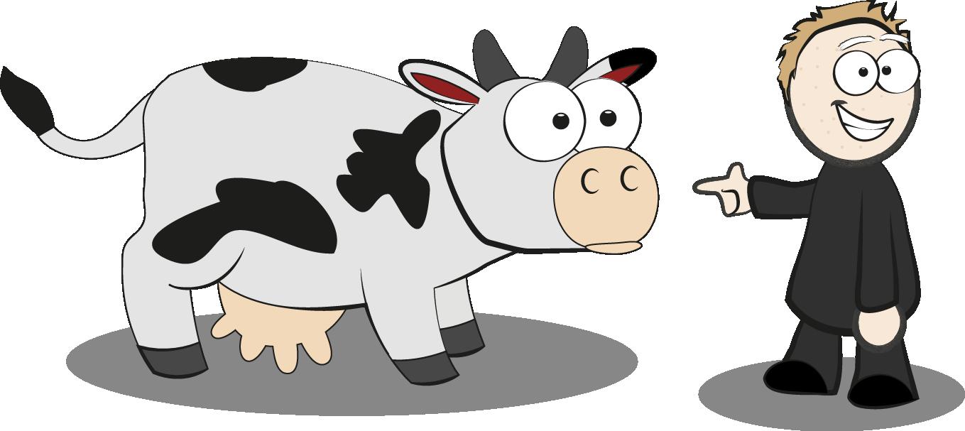 Kuh und Artgenosse