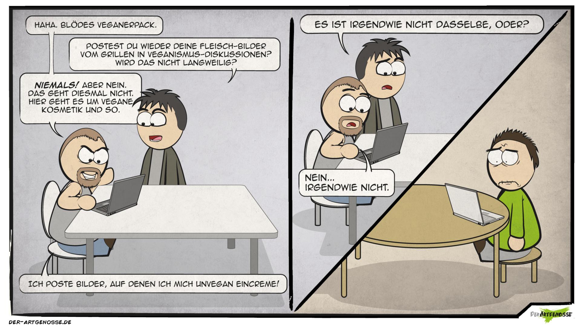 vegan Comic: cremig